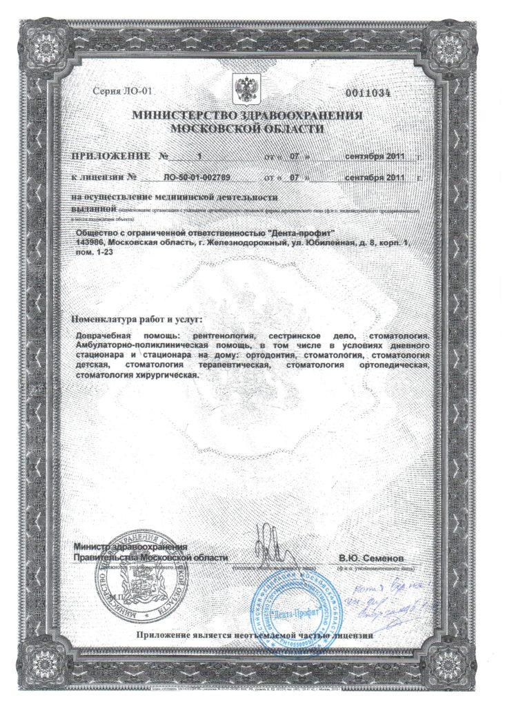 Лицензия Дента-Профит2